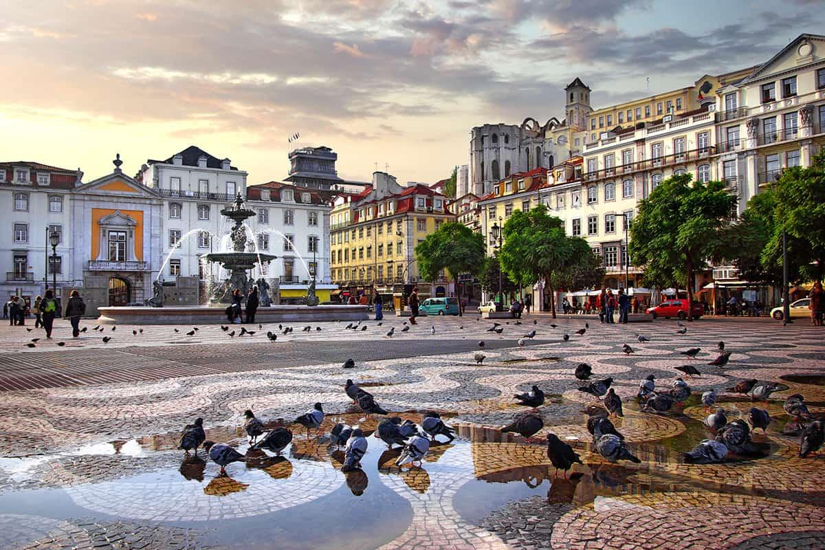 Place du Rossio - Lisbonne Portugal